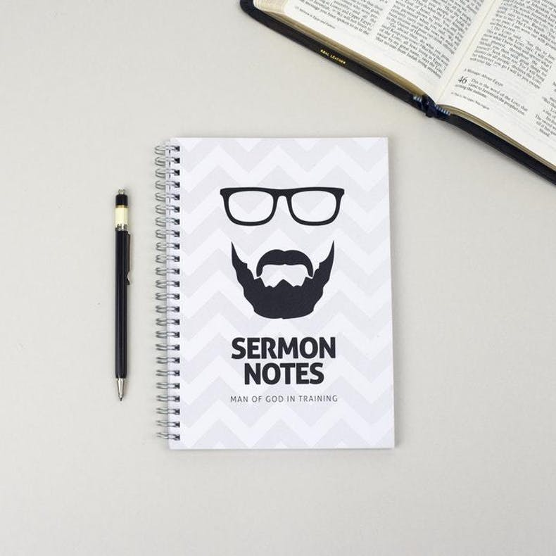 Sermon Notes for Men of God Notebook by Ali Marriott Stationary at Cheerfully Given