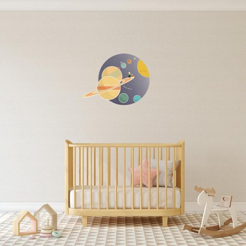Planets and Space Decal Christian Wall Decals | Wonderfully Made | Cheerfully Given