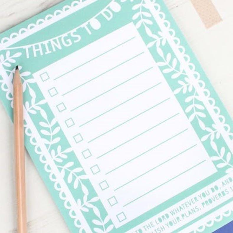 Things To Do Notepad Kiwi Tree Designs