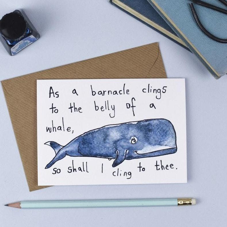 Whale Friendship Card Hannah Hunter-Kelm
