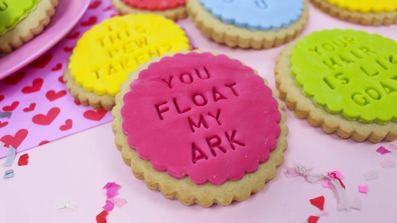 You float my ark valentines biscuit