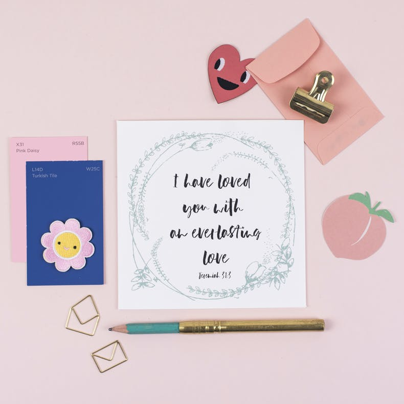 I Have Loved You With An Everlasting Love Valentines Card