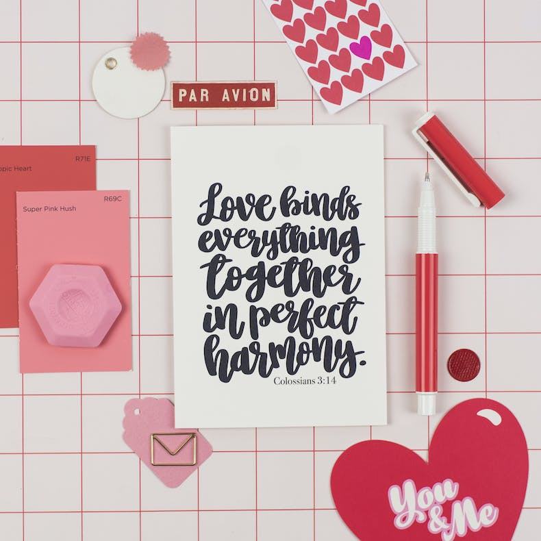 Love Binds Everything Together Valentines Card