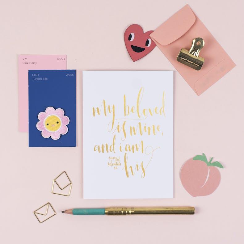 My Beloved Is Mine Valentines Card