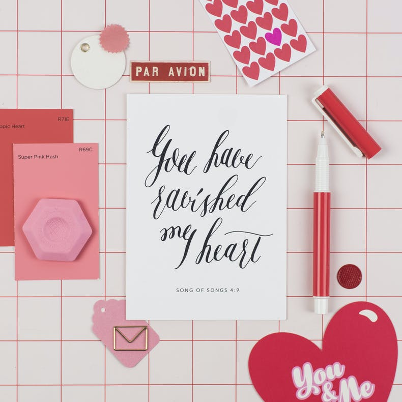 You Have Ravished My Heart Valentines Card