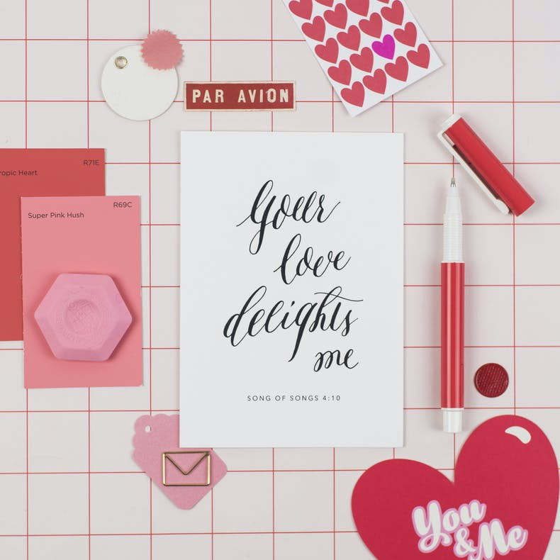 Your Love Delights Me Valentines Card