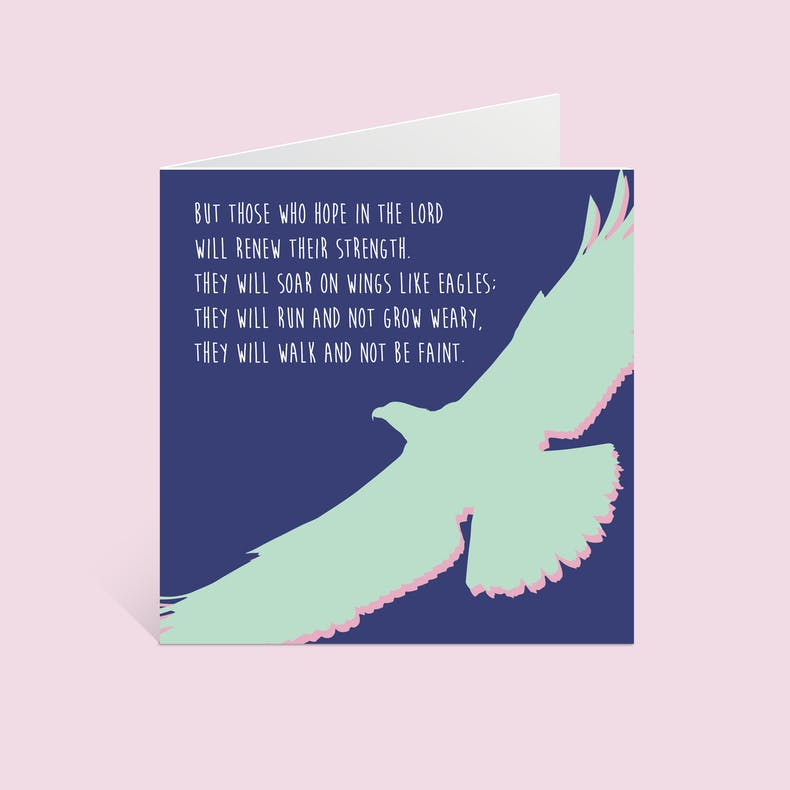 Eagle But Those Who Hope Christian Cards by Alimoo Designs at Cheerfully Given