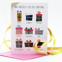 Presents Christian Christmas Cards | Alimoo Designs | Cheerfully Given - Bible Verse Christmas Cards UK