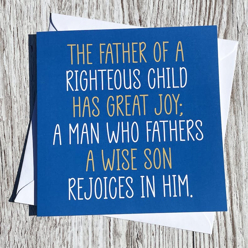 Righteous Child Christian Fathers Day Card by Alimoo Designs at Cheerfully Given