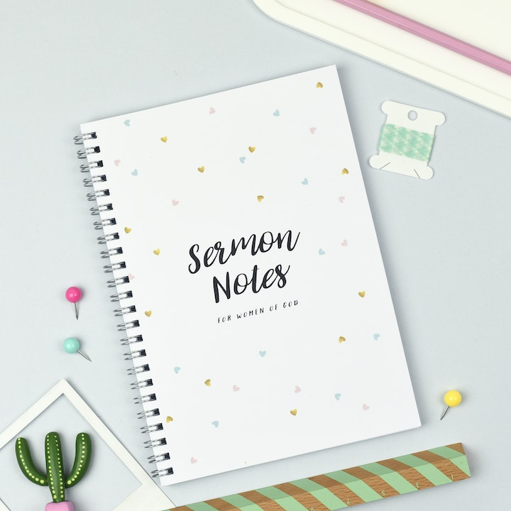 Sermon Notebook for Women | Ali Marriott Stationary | Cheerfully Given