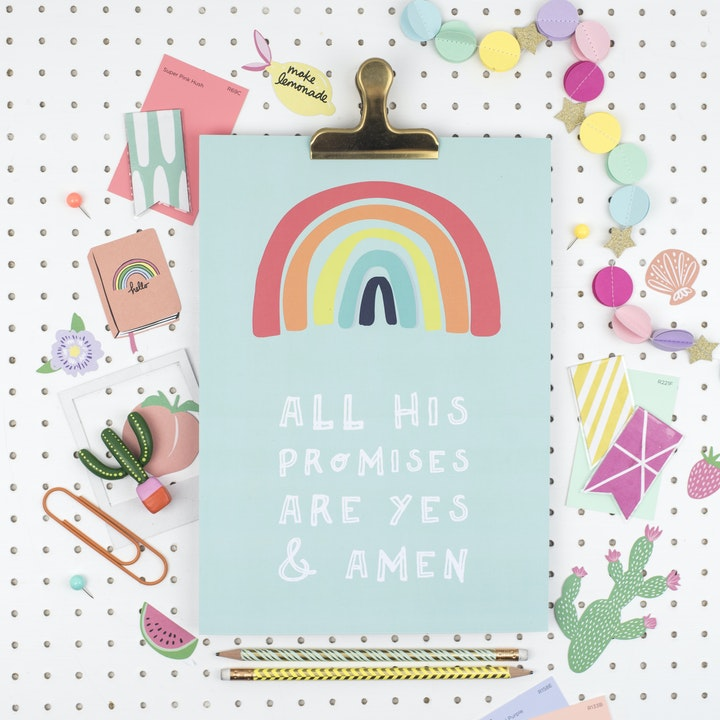 All His Promises are Yes and Amen Christian Print
