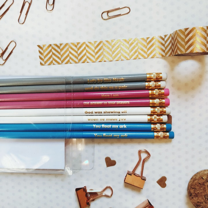 Valentine's Day Christian Pencils | Brush and Post | Cheerfully Given