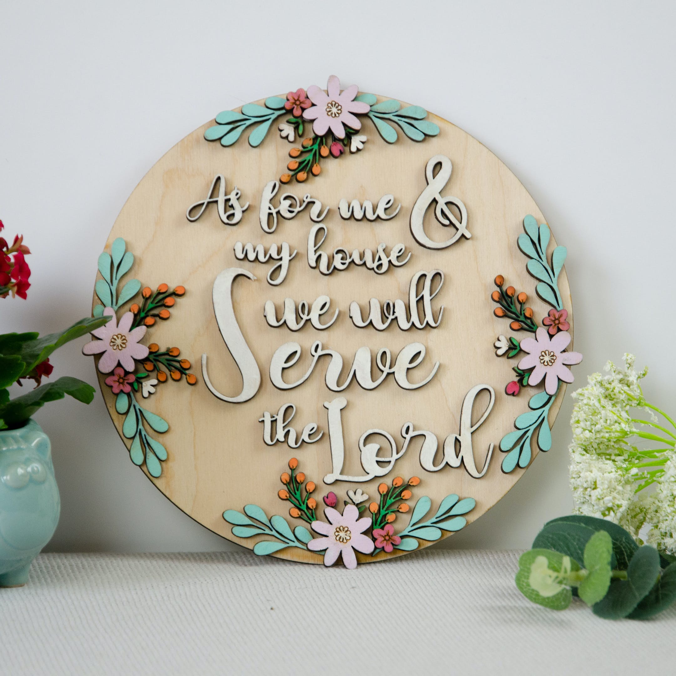 As For Me And My House - Wooden Verse Sign - Birch and Tides