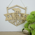 'Be Strong & Courageous' Woodland Themed Wooden Sign - Joshua 1:9 - Birch and Tides
