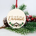 Christian Christmas Ornaments | Birch and Tides | Cheerfully Given - Christian Christmas Decorations