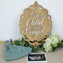 'For This Child We Have Prayed' Wooden Bible Verse Sign - 1 Samuel 1:27 - Birch and Tides