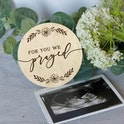 'For You We Prayed' Wooden Baby Milestone Disc - 1 Samuel 1:27 - Photo Prop - Birch and Tides