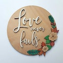 'Love Never Fails' Wooden Verse Sign - 1 Corinthians 13:8 - Birch and Tides