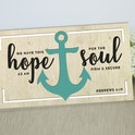 'We Have This Hope' Wooden Anchor Sign - Hebrews 6:19 - Birch and Tides