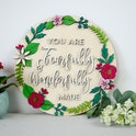 'You Are Fearfully & Wonderfully Made' Wooden Verse Sign - Psalm 139:14 - Birch and Tides