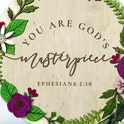 You Are Gods Masterpiece - Wooden Nursery Sign - Birch and Tides