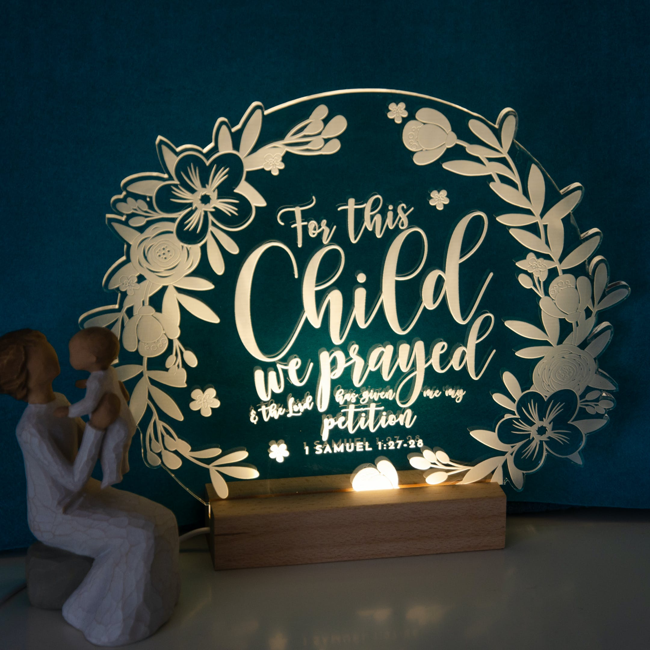 For This Child We Prayed Night Light by Birch and Tides at Cheerfully Given