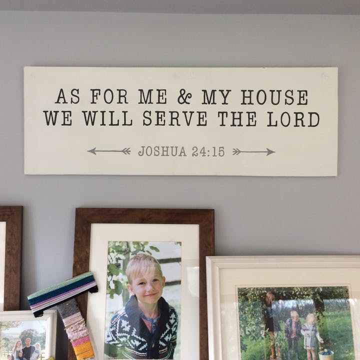 As for me and my house Sign | Beazhive | Cheerfully Given - Christian Gifts UK