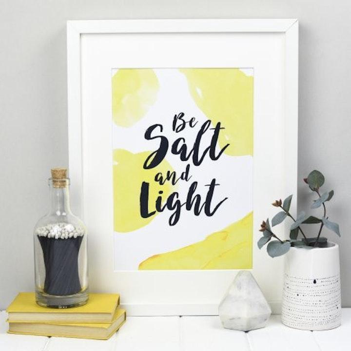 Be Salt and Light Bible Verse Print - Matthew 5:13-16