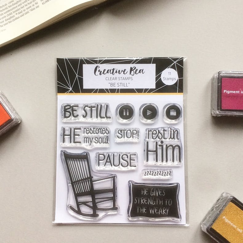 Be Still Bible Journaling Stamps | Creative Bea | Cheerfully Given