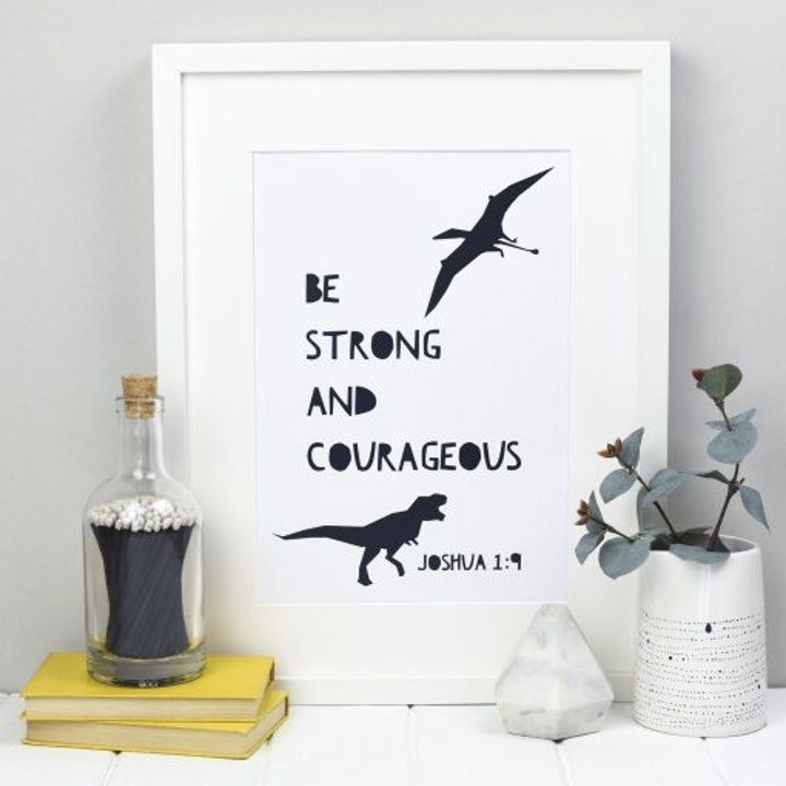 Be Strong and Courageous Wall Art - Joshua 1:9