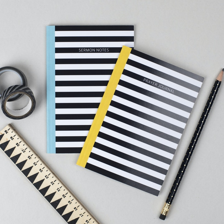 Sermon notes and prayer journal notebooks