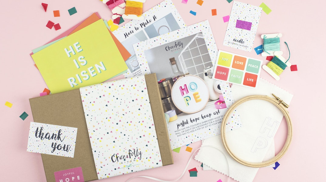 Creative christian gifts from uk designers makers cheerfully given get your craft on with our new craft kits negle Image collections