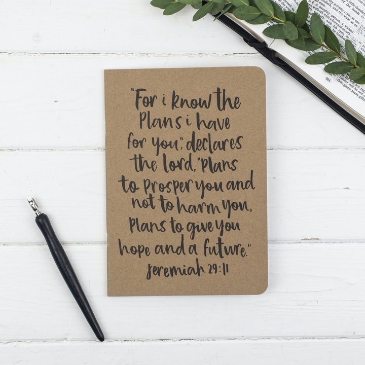 A5 For I Know the Plans Prayer Journal - Jeremiah 29:11 - Christian Lettering Company