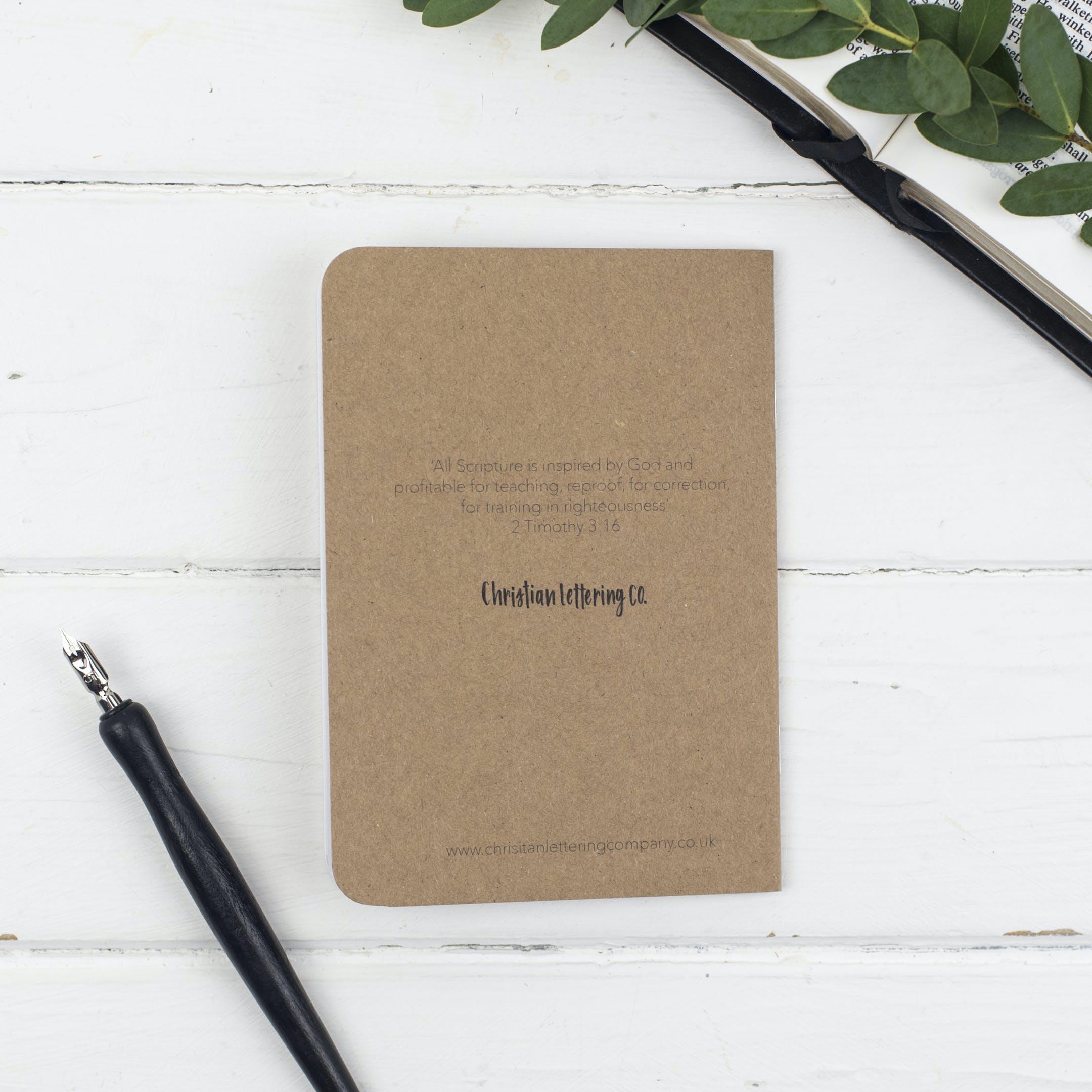 Back of Mini Prayer Journal - Christian Lettering Company
