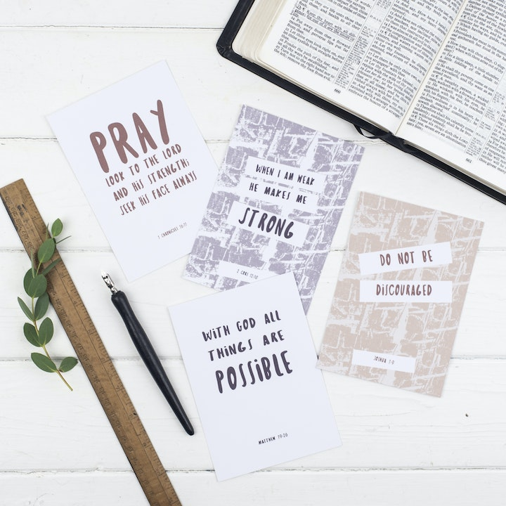 Be Courageous Scripture Postcards - Christian Lettering Company