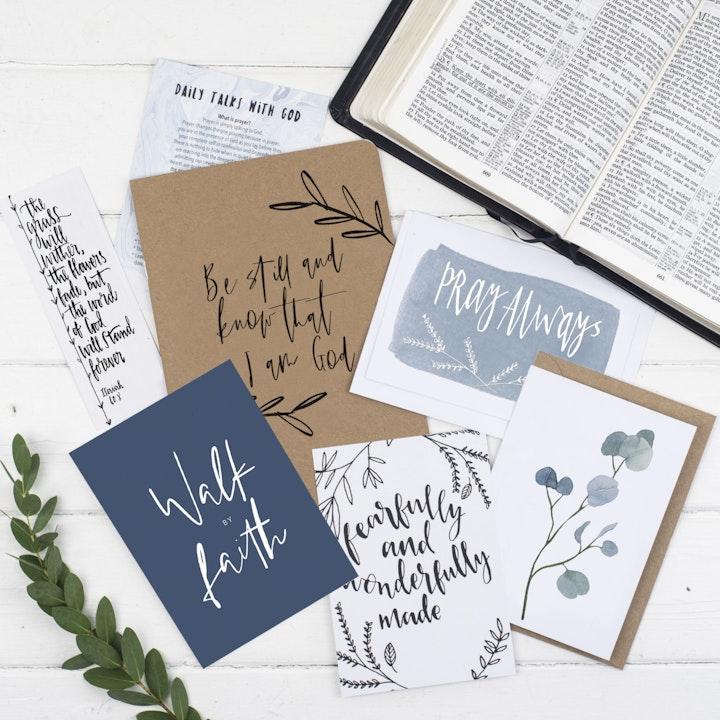 Be Still Prayer Journal Gift Set  - Psalm 46:10 - Christian Lettering Company