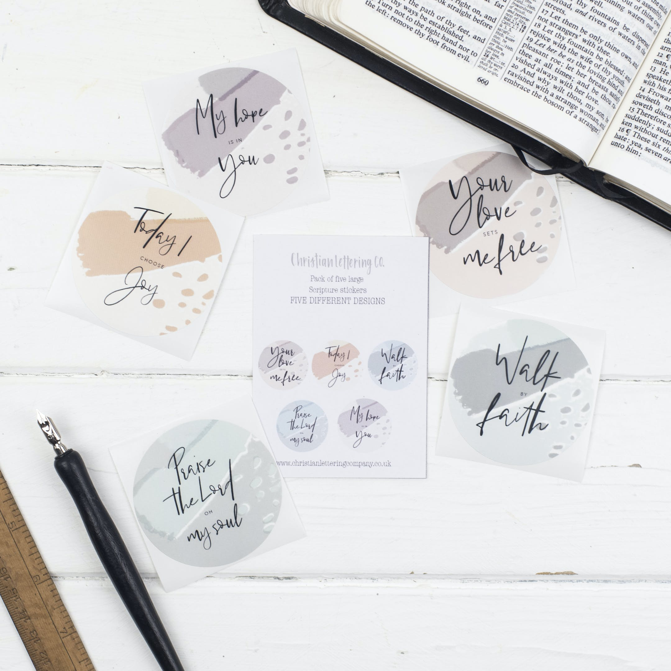 Bible Journal Stickers - Christian Lettering Company