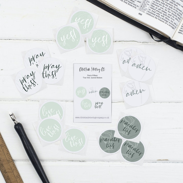 Bible Journal Stickers - True Vine - Christian Lettering Company