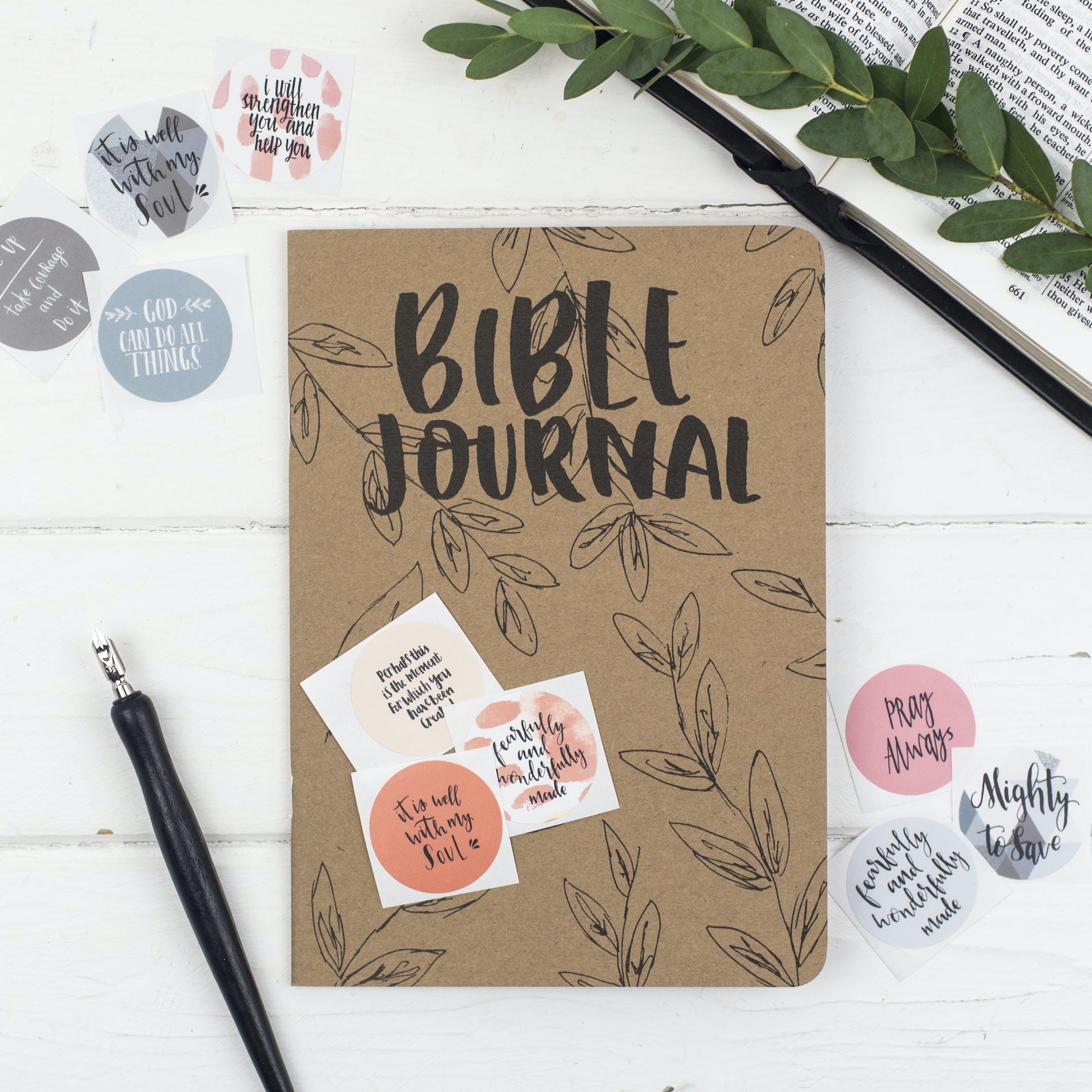 Bible Prayer Journal & Mixed Sticker Set - Christian Lettering Company