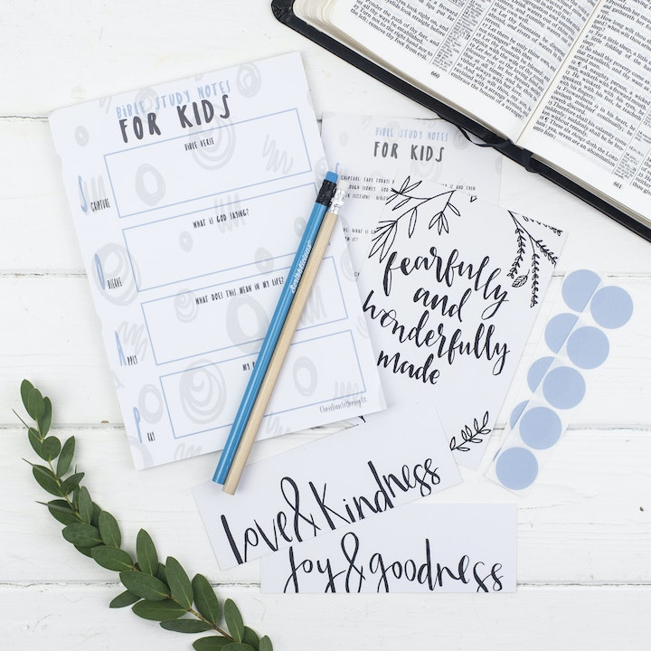 Bible Study Set For Kids - Joyful - Christian Lettering Company