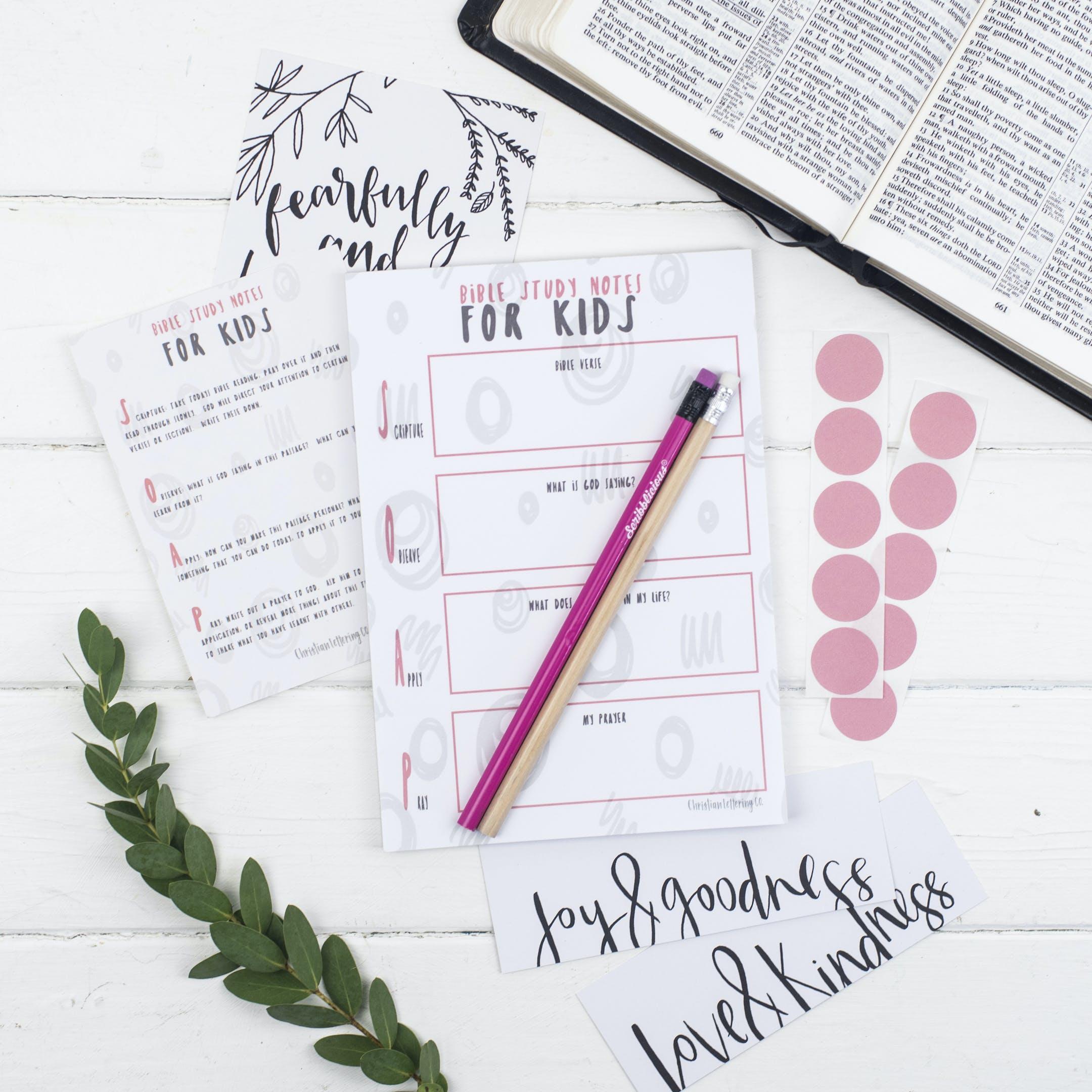 Bible Study Set for Kids - Glory - Christian Lettering Company