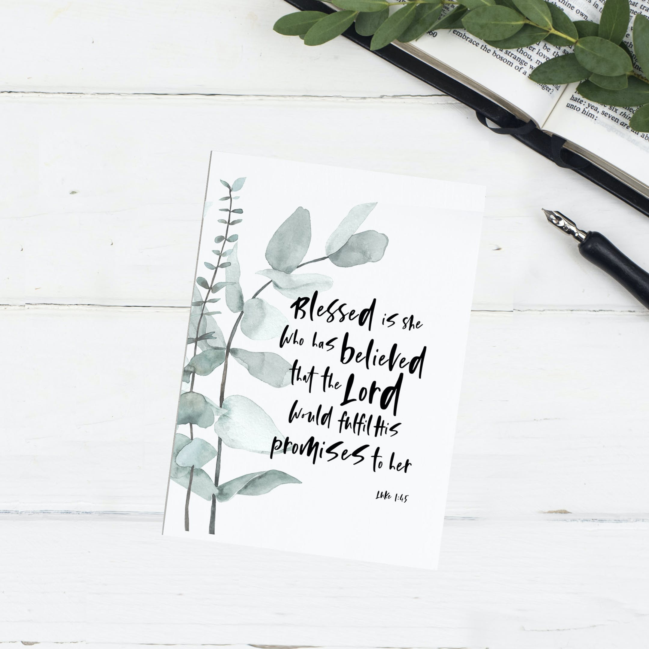 Blessed Is She Card | Christian Lettering Company | Cheerfully Given