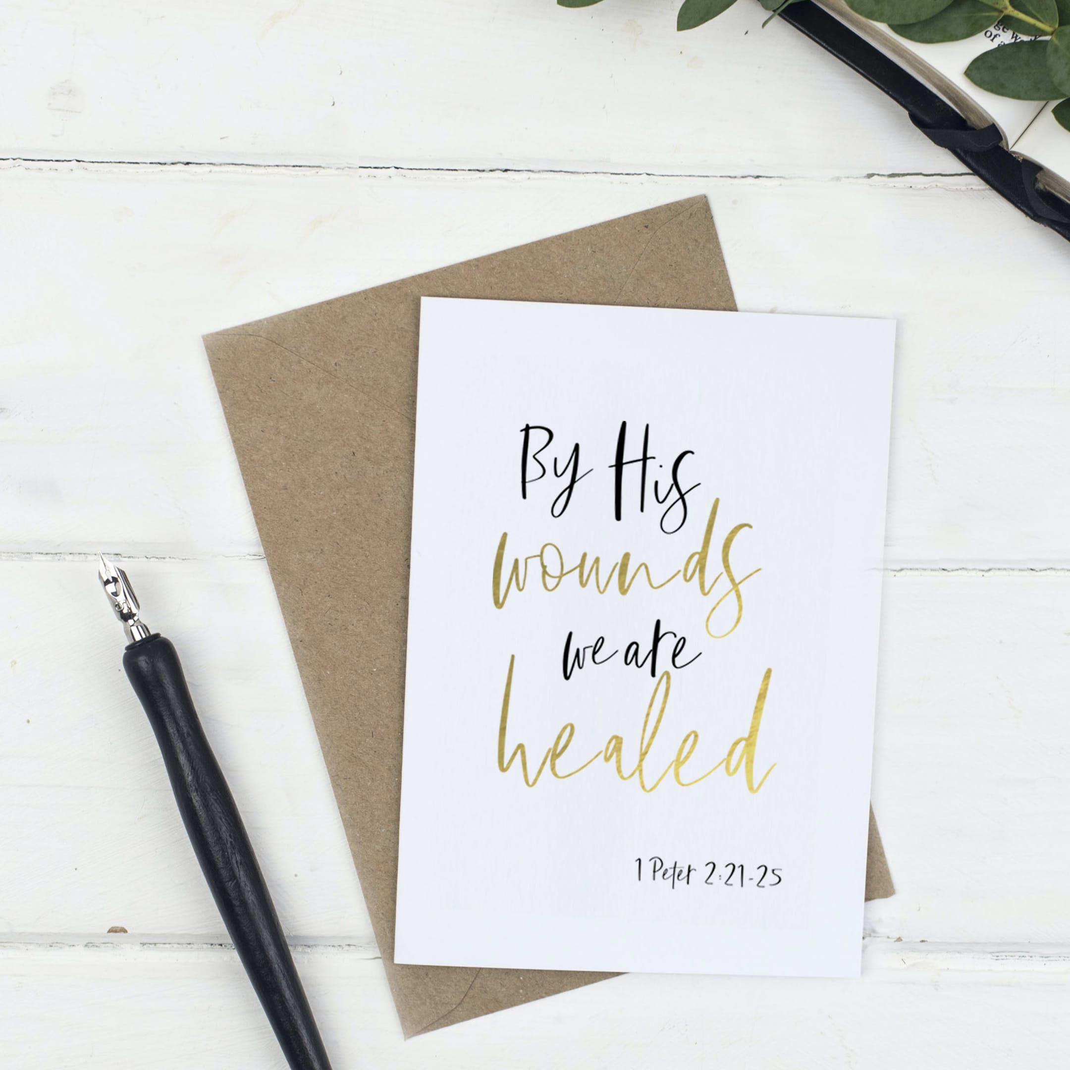 By His Easter Card - Christian Lettering Company