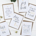 Carols At Christmas Gold - Set of Six Christmas Cards - Christian Lettering Company