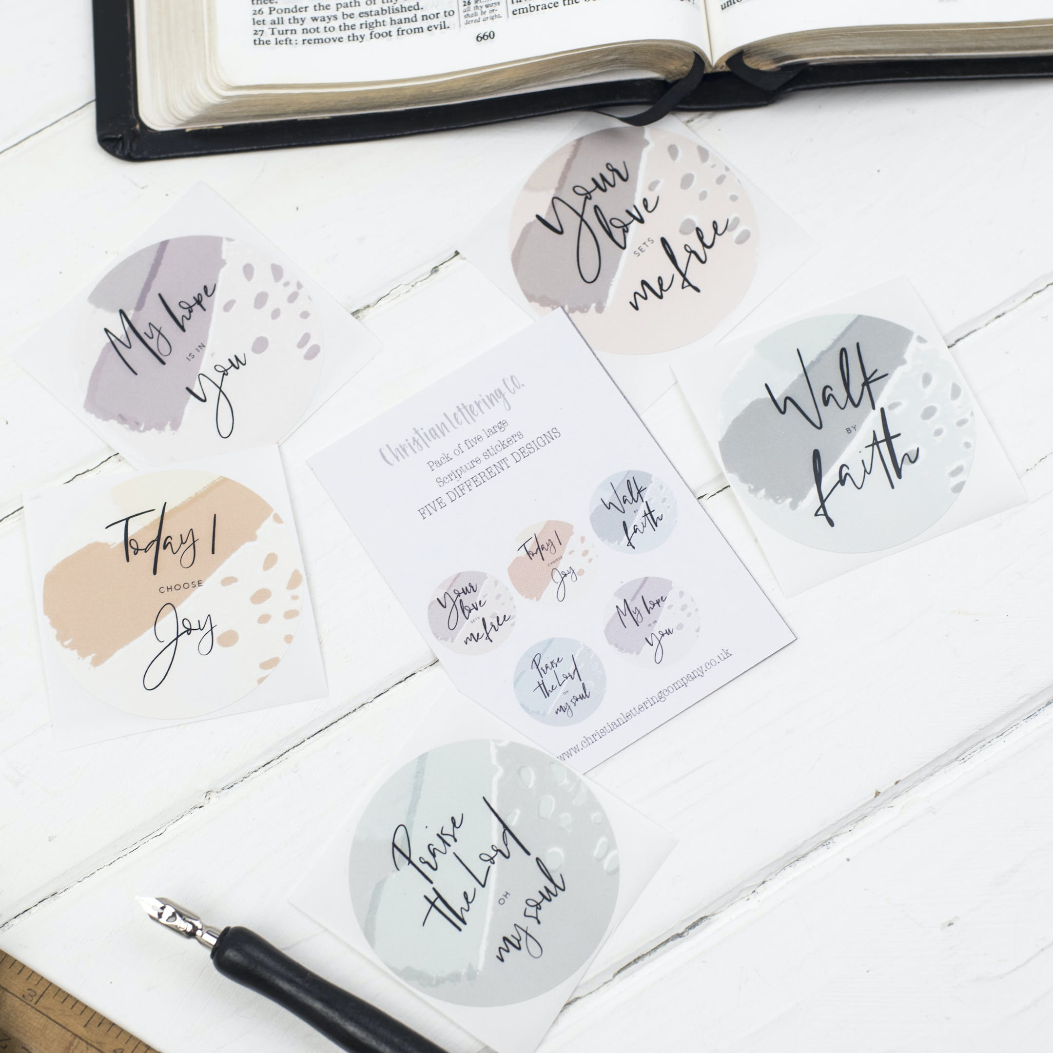 Christian Lettering Company - Bible Journal Stickers