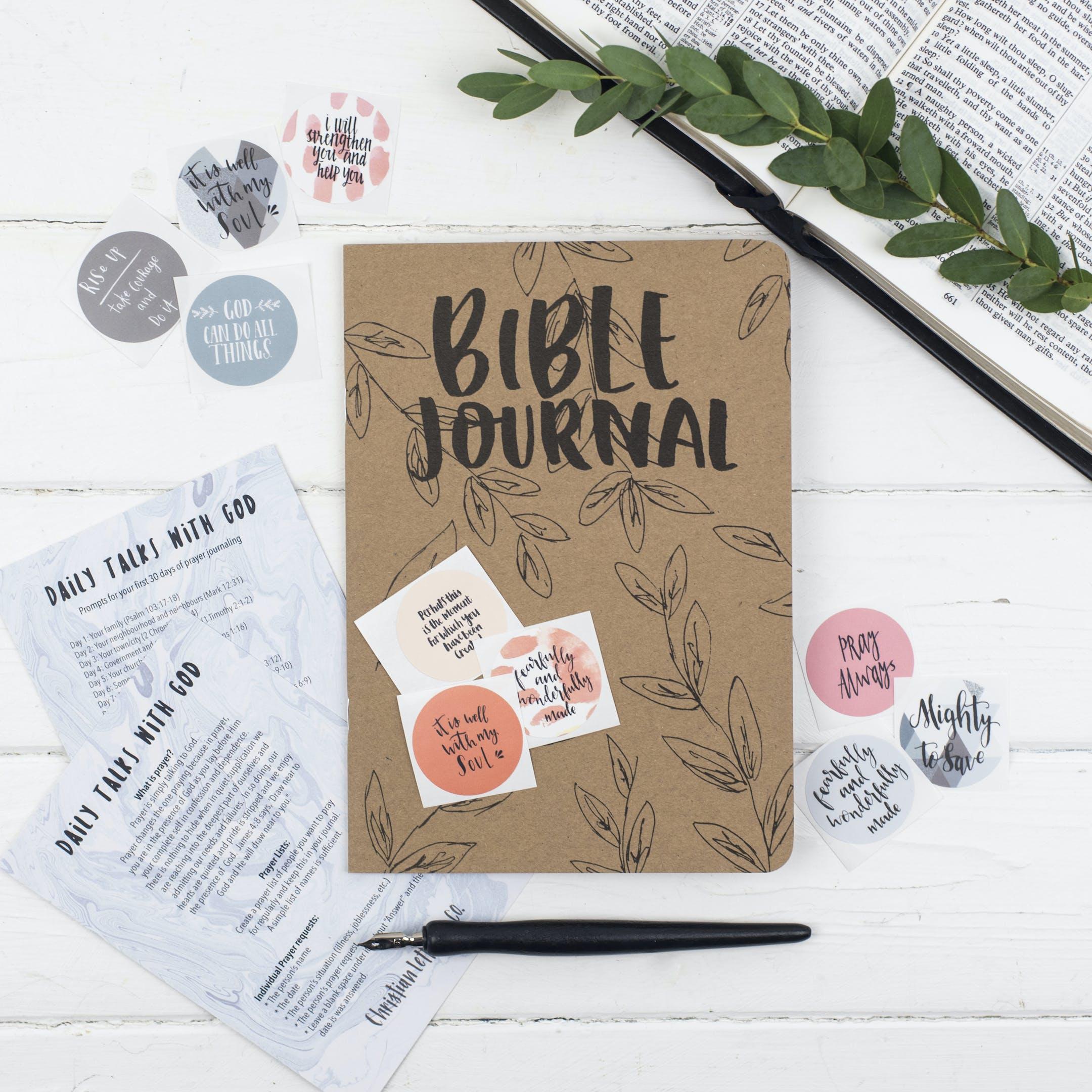 Christian Lettering Company - Bible Prayer Journal & Mixed Sticker Set