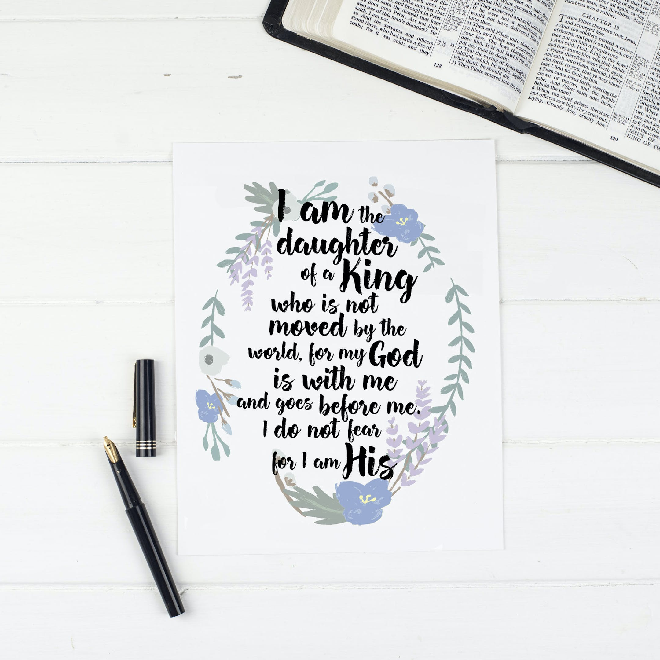 Christian Lettering Company - Daughter Of A King Print