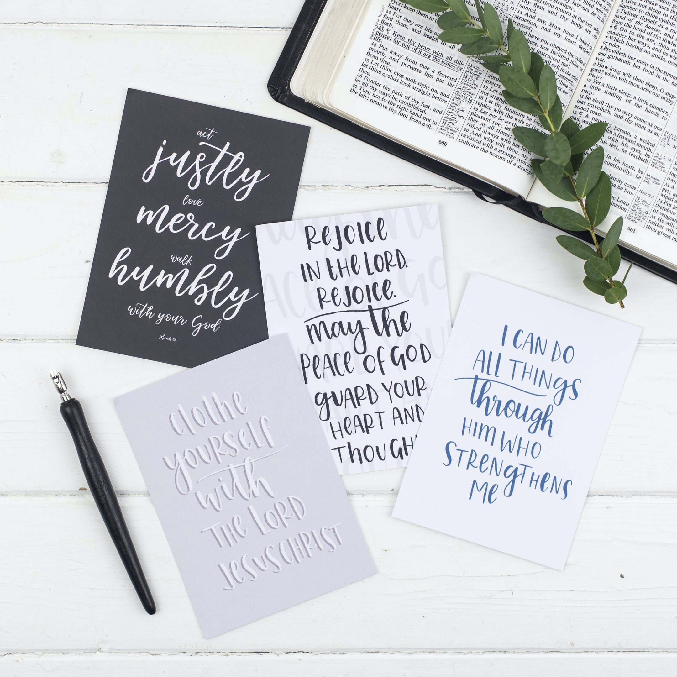 Contemporary Postcards - Gracious - Christian Lettering Company