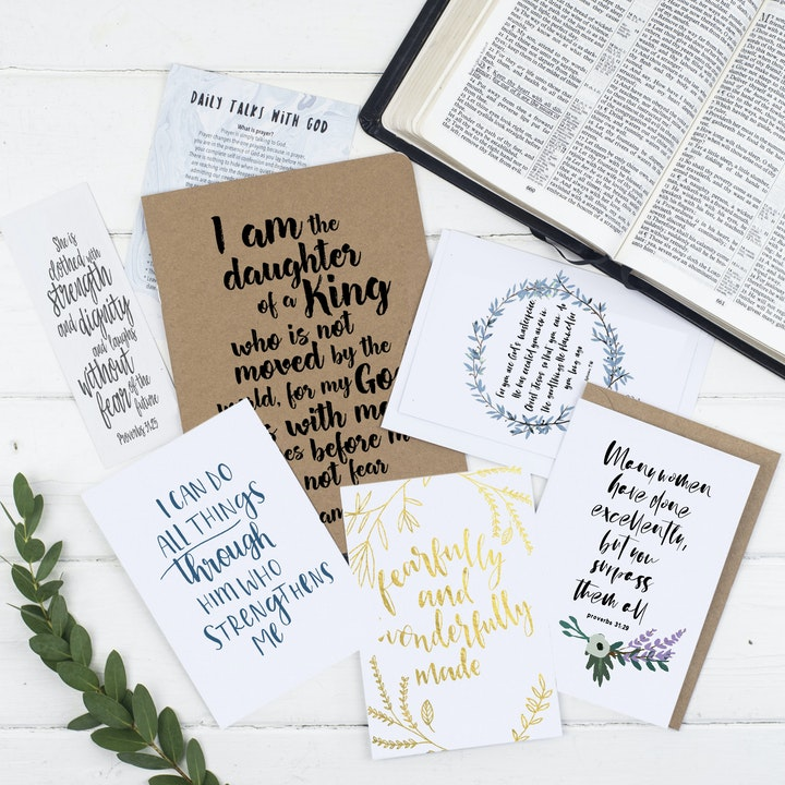 Daughter Of A King Prayer Journal Gift Set - Christian Lettering Company