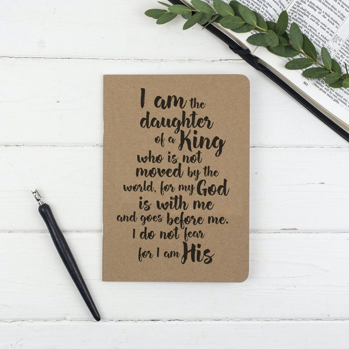 Daughter of a King Prayer Journal - Christian Lettering Company
